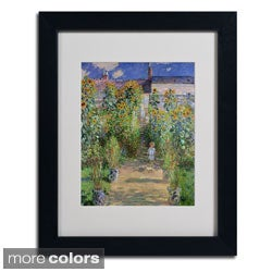 Claude Monet 'The Artist's Garden at Vetheuil' Framed Matted Art