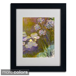 Claude Monet 'Waterlilies and Agapanthus' Framed Matted Art