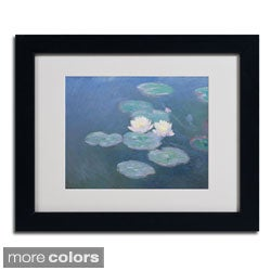 Claude Monet 'Waterlilies Evening' Framed Matted Art