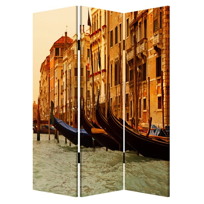 Venice 3-Panel Canvas Screen (Venice Screen-3-panel, 48L X 72W)