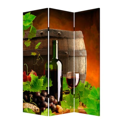 Wine Country 3-Panel Canvas Screen