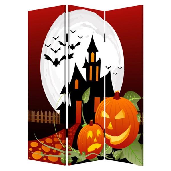 Handmade Halloween Canvas Screen. Opens flyout.