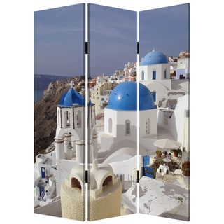 Greece 3-Panel Canvas Screen