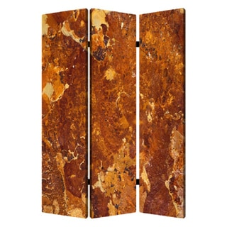 Brown Marble 3-Panel Canvas Screen
