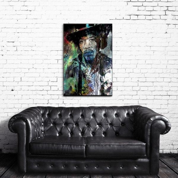 Ready2HangArt Iconic 'Jimmy Hendrix' Acrylic Wall Art - Multi-color