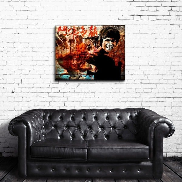 Ready2HangArt Iconic 'Bruce Lee' Acrylic Wall Art - Multi-color. Opens flyout.