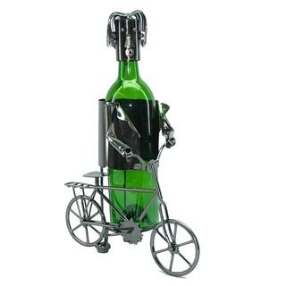 Bicyclist Wine Bottle Holder Wine Caddy