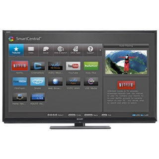 "Sharp Aquos LC-60LE745 60"" 1080p 120Hz 3D LED Smart TV (Refurbished)"