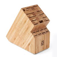 Cook N Home Bamboo Knife Storage Block, 19 Slot
