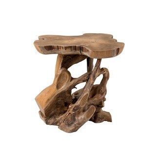 Decorative Tan Rustic Transitional Natura Freeform Side Table