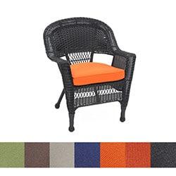 Black Wicker Chair/ Cushion (Set of 4)