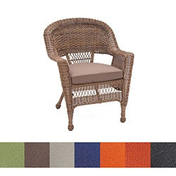Honey Wicker Chair/ Cushion (Set of 4)