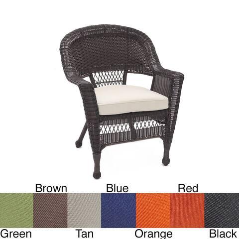 Espresso Wicker Chair/ Cushion (Set of 4)