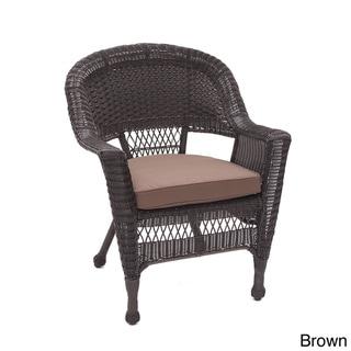 Espresso Wicker Chair/ Cushion (Set of 4) (Brown)
