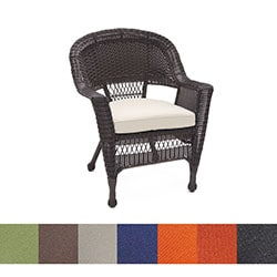 Espresso Wicker Chair/ Cushion (Set of 4)