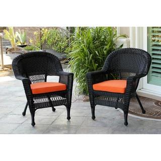 Black Wicker Chair (Set of 2)