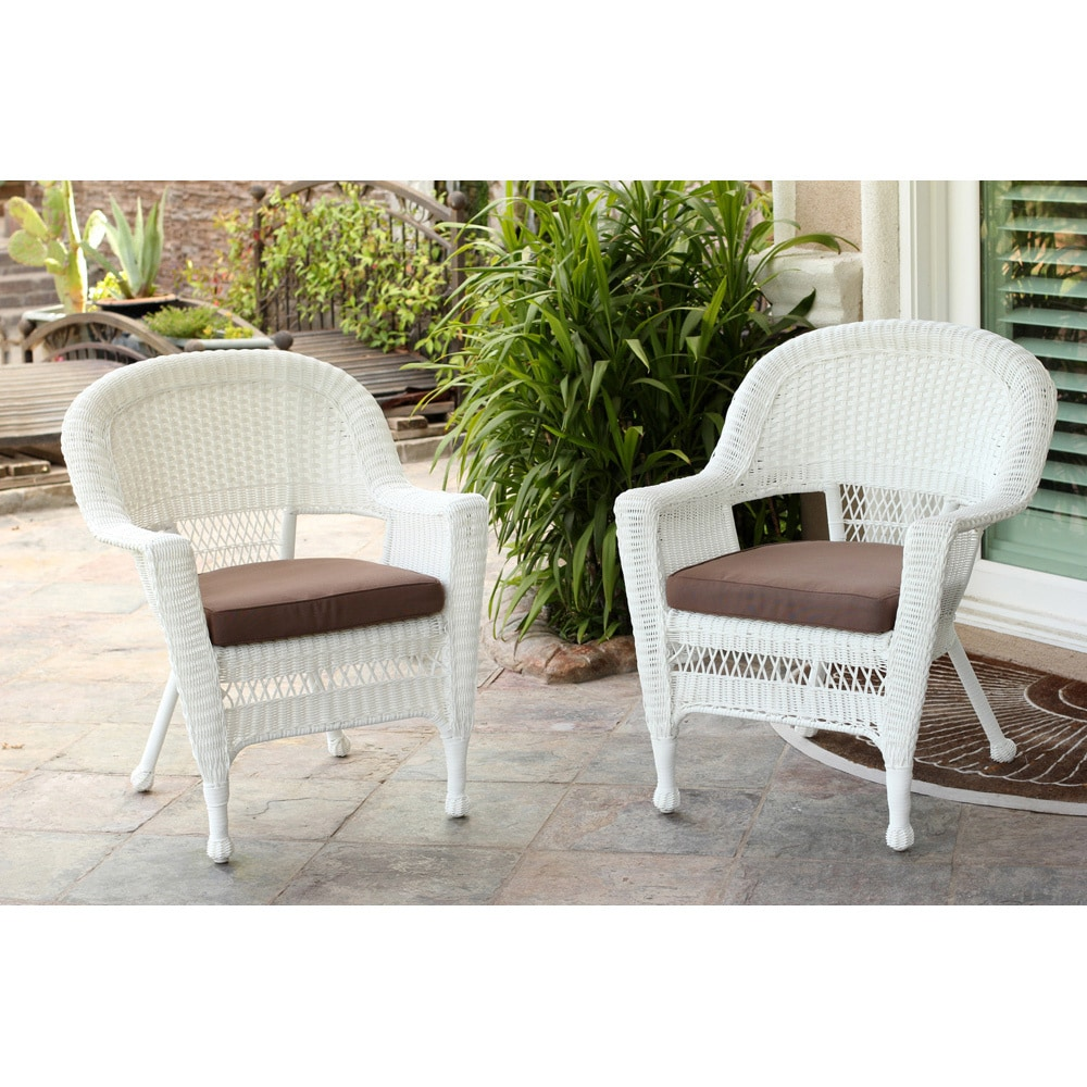 Admirable White Wicker Chair Set Of 2 Theyellowbook Wood Chair Design Ideas Theyellowbookinfo
