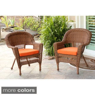 Honey Wicker Chair (Set of 2)