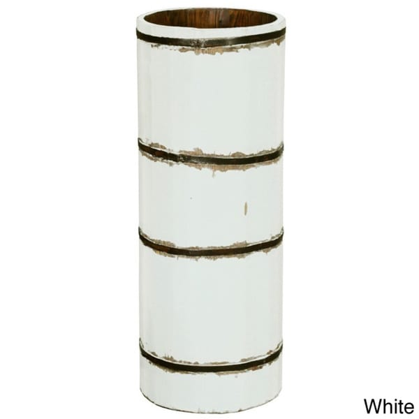 High Wooden Barrel