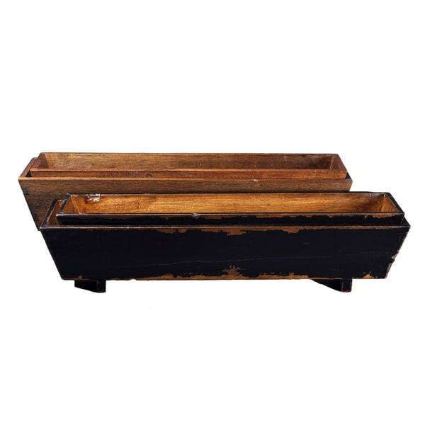 2-piece Wooden Planter/ Stand