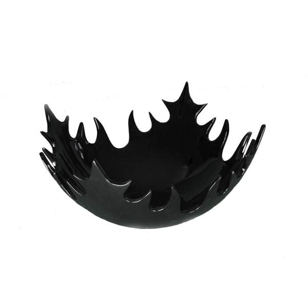 Large Black Decorative Bowl