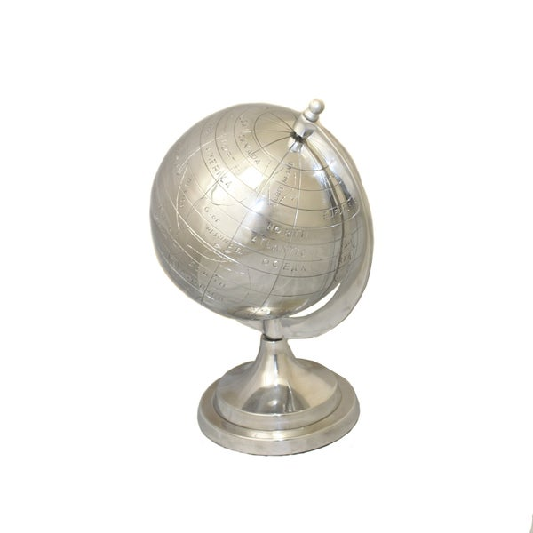 Global Appeal Aluminum Table Top Decorative 13-inch Globe
