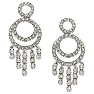 18k White Gold 1 1/5ct TDW Diamond Chandelier Earrings (G-H, SI1-SI2)