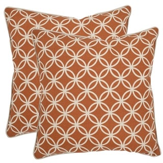 Safavieh Alice 18-inch Brown Feather Decorative Pillows (Set of 2)