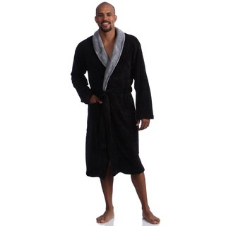 Pipeline Men's Micro Plush Bath Robe (Option: L)