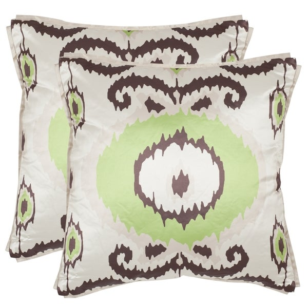 Shop Safavieh Giselle 40inch Lime Green Decorative Pillows Set Of Classy Green Brown Decorative Pillows