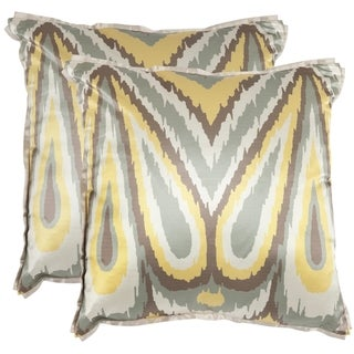 safavieh keri 18inch yellow decorative pillows set of 2