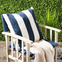 Safavieh Sally 22-inch Navy/ Blue Feather Decorative Pillows (Set of 2)