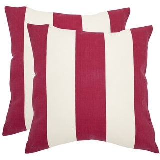 Safavieh Sally 18-inch Red Feather Decorative Pillows (Set of 2)
