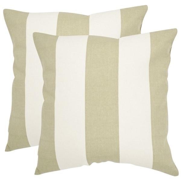 Safavieh Sally 40inch Sage Green Feather Decorative Pillows Set Stunning Sage Green Decorative Pillows