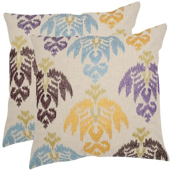 Safavieh Dina 18-inch Feather Decorative Pillows (Set of 2)
