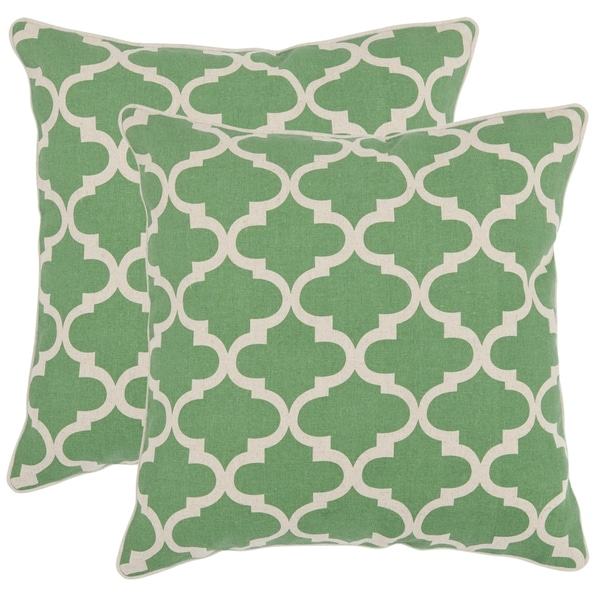 Shop Safavieh Suzy 40inch Green Feather Decorative Pillows Set Of Extraordinary Overstock Decorative Pillows