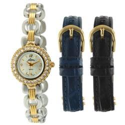 Pierre Jacquard ST1 Women's Two-tone Interchangeable Strap Watch