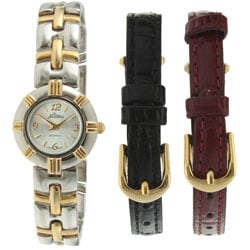Pierre Jacquard ST2 Women's Two-tone Interchangeable Strap Watch