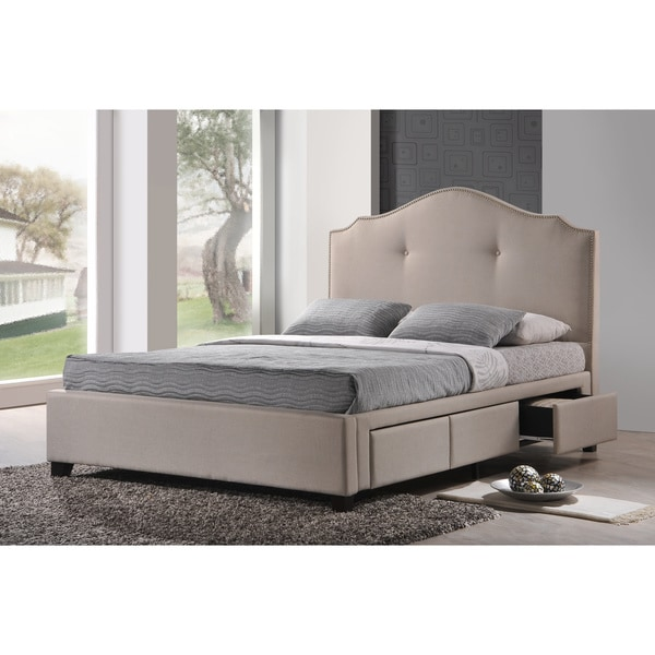 Erin Beige Modern Bed - Free Shipping Today - Overstock.com - 15513911