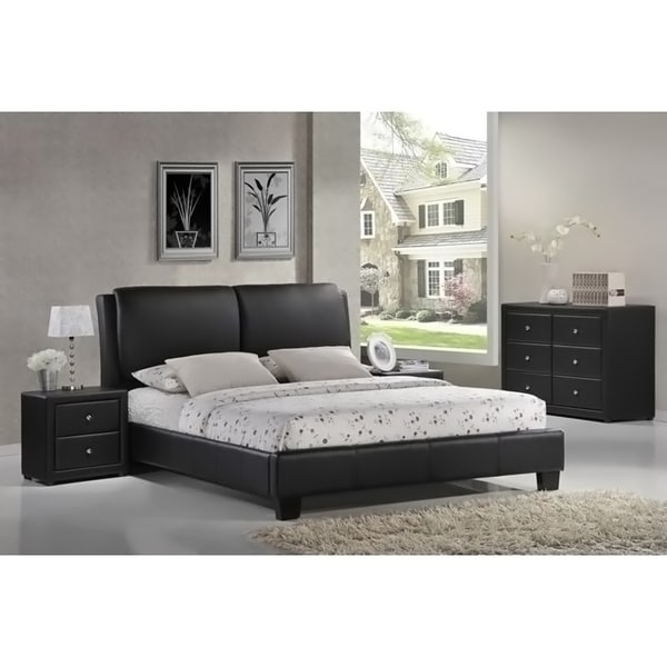 Shop Baxton Studio Sabrina Black Full Size Bed With