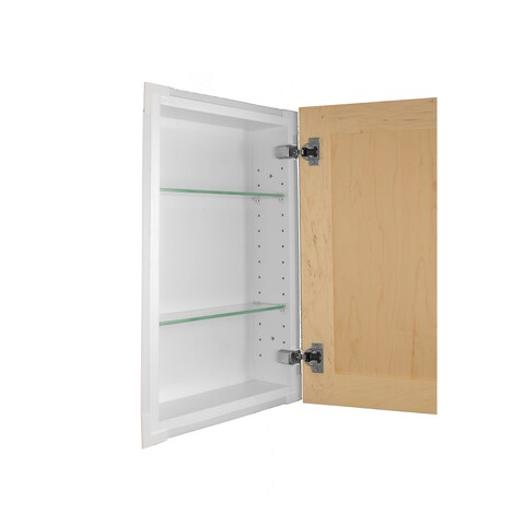 Shaker Style Frameless Recessed In-wall Bathroom Medicine Storage Cabinet