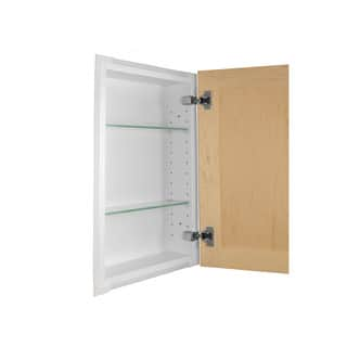 Shaker Style Frameless Recessed In-wall Bathroom Medicine Storage Cabinet|https://ak1.ostkcdn.com/images/products/8176000/P15513956.jpg?impolicy=medium