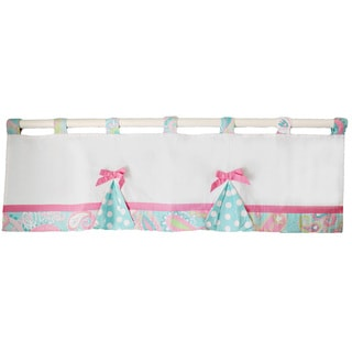 My Baby Sam Pixie Baby Curtain Valance in Aqua