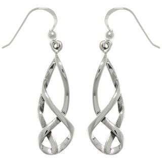 Carolina Glamour Collection Sterling Silver Celtic Balance Dangle Earrings
