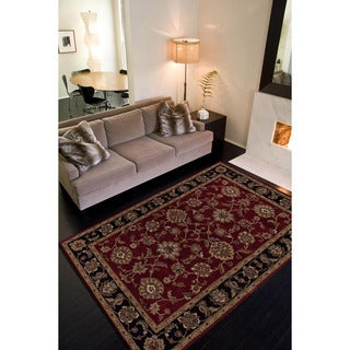 Hand-tufted Traditional Oriental Red/ Orange Rug (9' x 12')