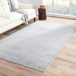 Phase Handmade Solid Gray/ Silver Area Rug - 9' x 12'