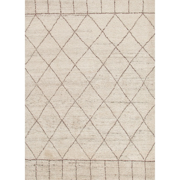 Hand-Knotted Tribal White Area Rug (9' X 12') - 9' x 12'