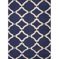 Cavanaugh Handmade Trellis Blue/ Cream Area Rug - 9' x 12'