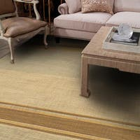 Tropez Handmade Stripe Brown/ Gray Area Rug (8' X 10')