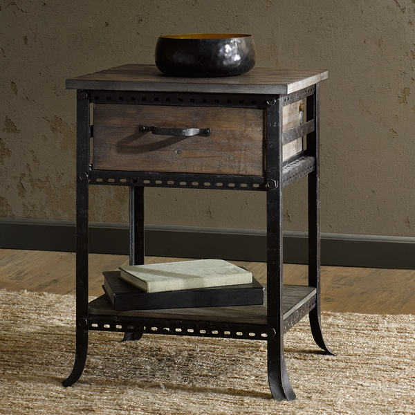 Industrial Storage Coffee Table Review: Shop Renate CIRQUE Accent End Table With Drawer